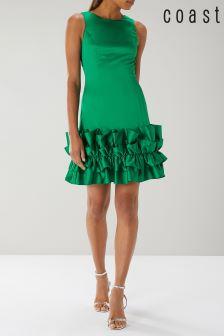 Coast Emerald Paris Ruffle Hem Dress