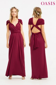 Oasis Red Annie Multiway Maxi Dress
