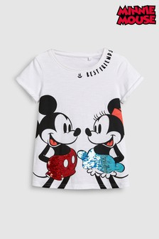 Flippy Sequin Minnie™ & Mickey™ Short Sleeve T-Shirt (3-16yrs)