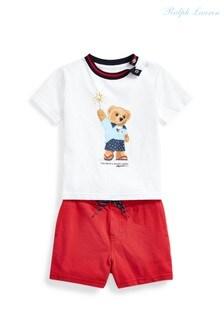 Ralph Lauren White Bear Outfit Set