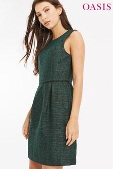 Oasis Green Tweed Dress