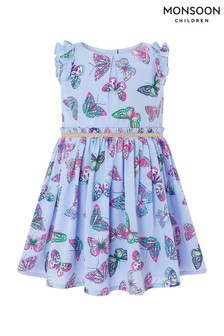 Monsoon Lilac Baby Azure Butterfly Dress