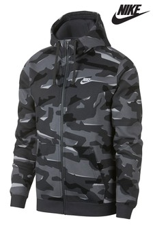 Nike Camo Zip Through Hoody