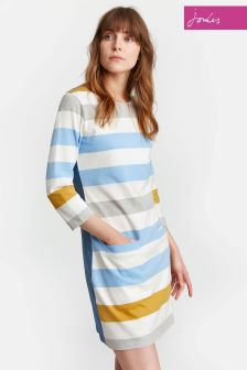 Joules Cream/Gold/Blue Stripe Jade Tunic