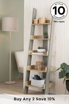 Malvern Dove Grey Ladder Shelf