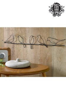 Birds On A Wire Plaque by Art For The Home