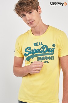 Superdry Yellow Script Tee
