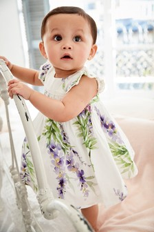 Smock Prom Dress And Knickers Set (0mths-2yrs)