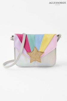 Accessorize Silver Rainbow Star Cross Body Bag