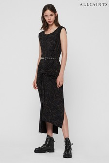 AllSaints Black Snakecharm Reviera Dress