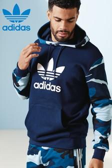 adidas Originals Blue Camo Trefoil Hoody