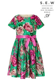 Monsoon S.E.W Recycled Bright Floral Print Dress