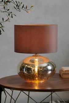 Petra Dual Light Gold Mercury Large Table Lamp