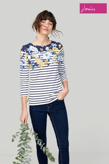 1a3c675adc730 Joules Harbour Print Jersey Top