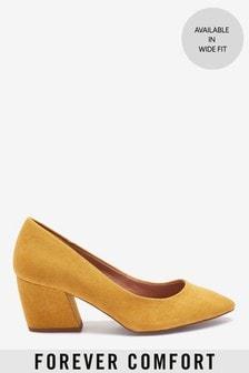 Banana Heeled Court Shoes
