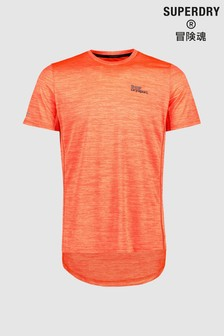 Superdry Orange Training Short Sleeve T-Shirt