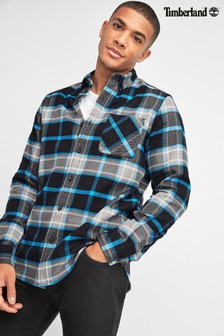 Timberland® Blue Regular Fit Heavy Flannel Check Shirt