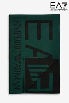 Emporio Armani EA7 Green Logo Scarf