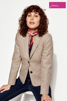 Joules Willow Herringbone Tweed Blazer