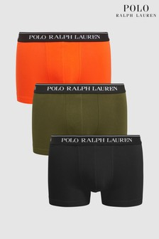 Polo Ralph Lauren® Black Olive Orange Trunks Three Pack