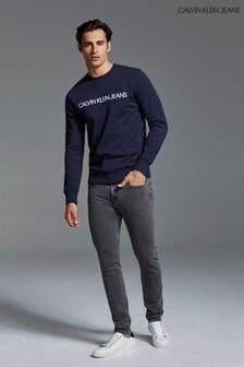 Sive oprijete kavbojke Calvin Klein Jeans