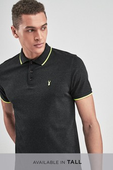 Neon Tipped Polo