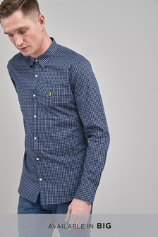 Smart Long Sleeve Grey Check Shirt
