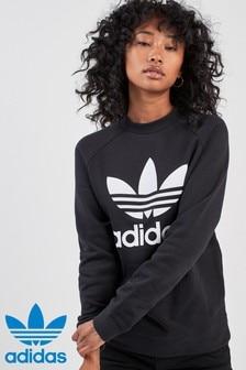 adidas Originals Rundhals-Shirt mit Dreiblatt-Logo
