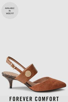 Туфли с ремешком на пятке и металлофурнитурой Forever Comfort