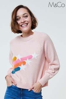 M&Co Pink Shooting Star Jumper