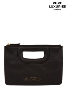 Pure Luxuries London Esher Leather Clutch Bag