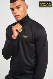 Barbour® International Black Half Zip Track Top