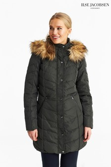 Ilse Jacobsen Khaki Down Parka Coat