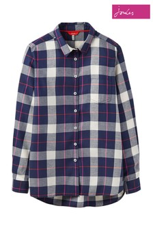 Joules Blue Lorena Check Shirt
