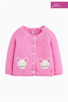 Joules Pink Mouse Baby Dorrie Cardigan