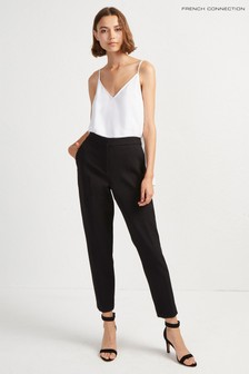 7058f7126a French Connection Black Whisper Ruth Tailored Trouser