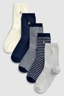 Набор из пяти пар носков с якорями