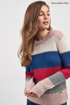 Abercrombie & Fitch Bunt gestreifter Pullover