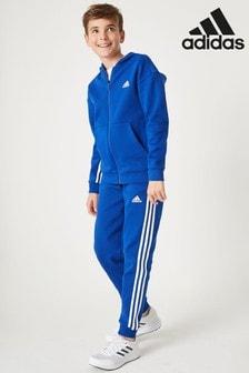 adidas Blue 3 Stripe Joggers