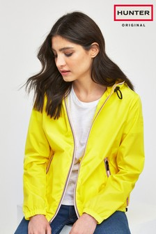 Hunter Women's Yellow Original Shell Rain Jacket