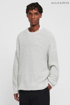Sivý textúrovaný pulóver AllSaints Lothian