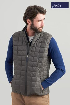 Joules Grey Ridgeway Lightweight Square Quilted Gilet