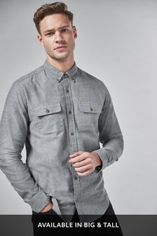 Brushed Flannel Twin Pocket Shirt