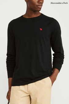 Abercrombie & Fitch Black Long Sleeve T-Shirt