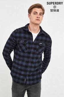 Superdry Blue Check Long Sleeve Shirt