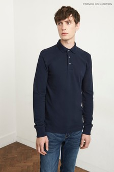 French Connection Navy Brunswick Plain Poloshirt