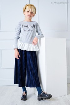Angel & Rocket Blue Velour Culotte