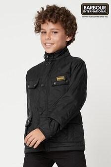 Barbour® International Black Ariel Polarquilt Boys Jacket