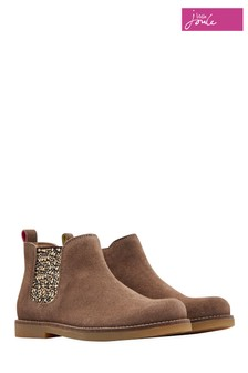Joules Brown Suede Chelsea Boot