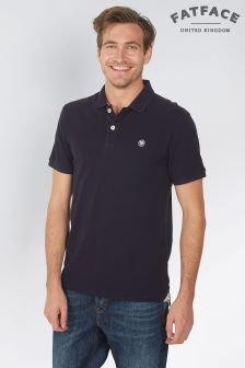 FatFace Dark Ink Linton Organic Cotton Pique Polo